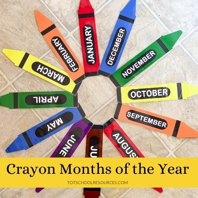 crayon months of the year