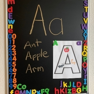 Letter of the week letter A board