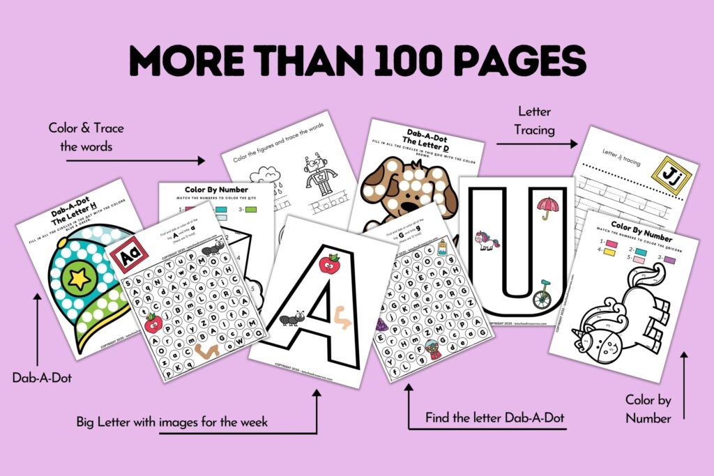 alphabet learning worksheets
