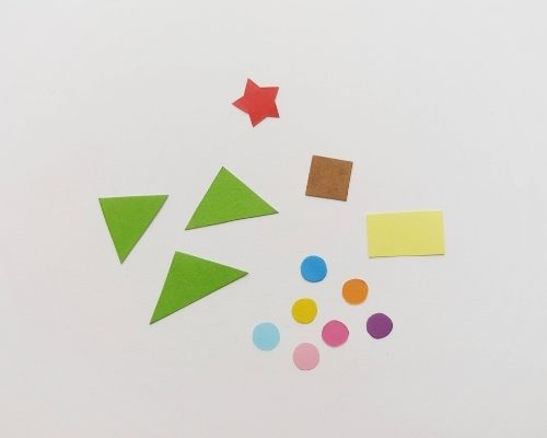 christmas tree shape pieces
