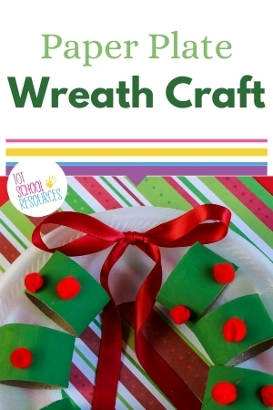 christmas wreath craft for preschool