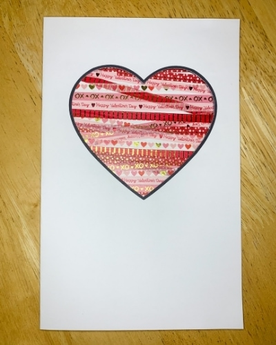 Washi tape Valentine's Day card
