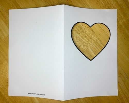 heart card template