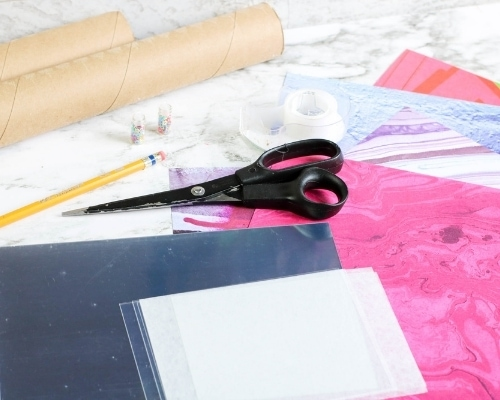 DIY kaleidoscope craft supplies