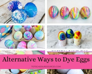 alternative ways to color easter eggs