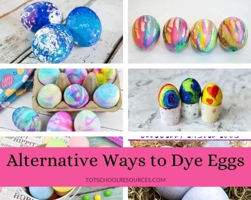 alternative ways to dye easter eggs