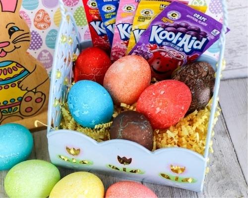 kool aid colored eggs