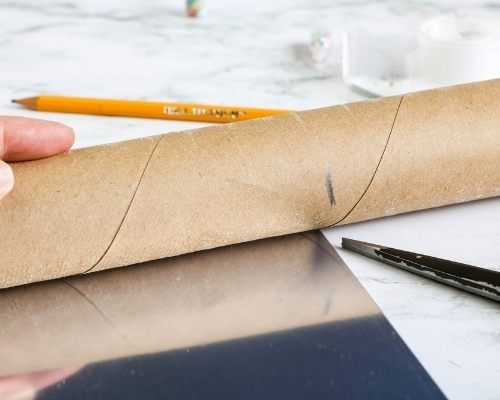 measure tube and cut to length of reflective sheet