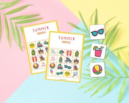 Summer bingo game cards