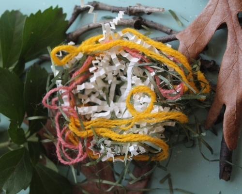 faux bird nest