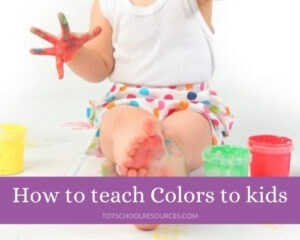 how to teach colors to toddlers