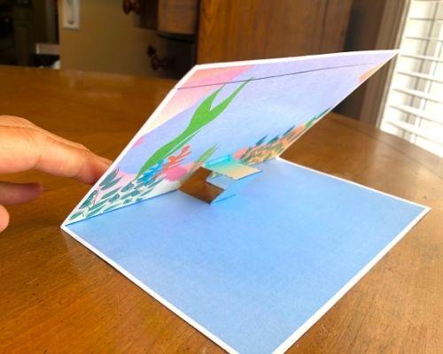 push rectangle through to create a step