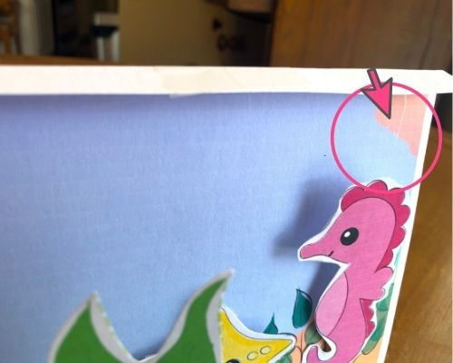 seahorse attached with string
