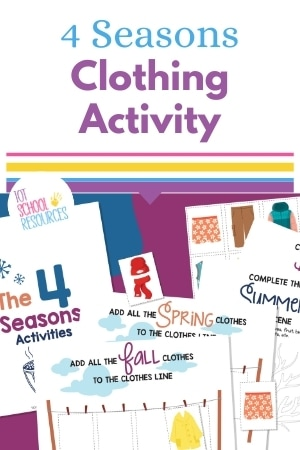 4 seasons clothes activity